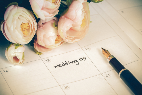 Das Hochzeitsdatum