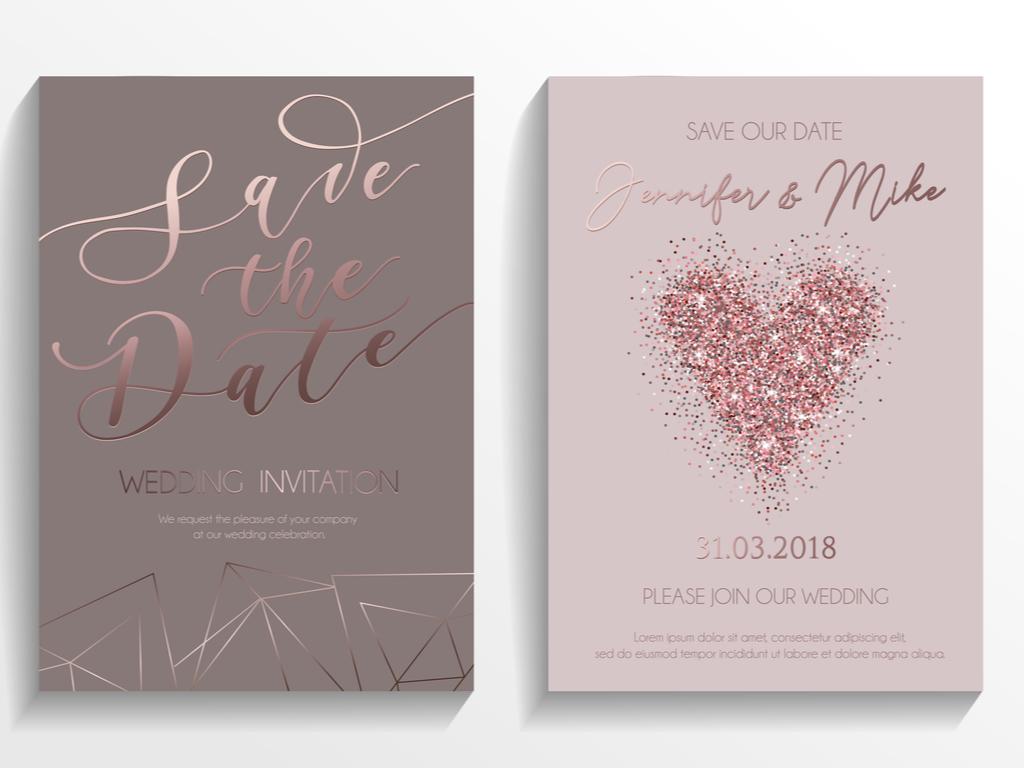 Save-the-Date Karte Hochzeit