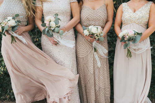 Hochzeitstrend Brautjungfern Kleider