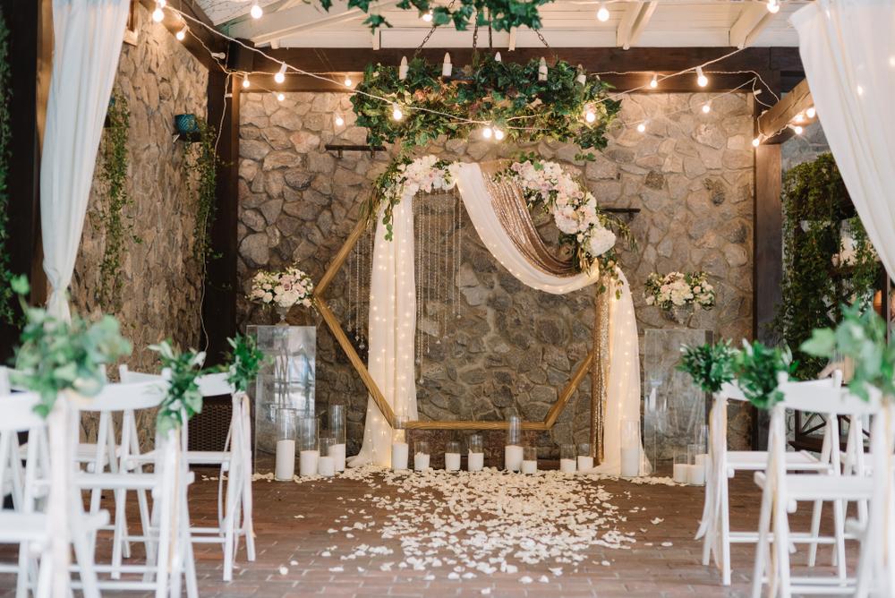 Hochzeitstrend Hexagon Traubogen