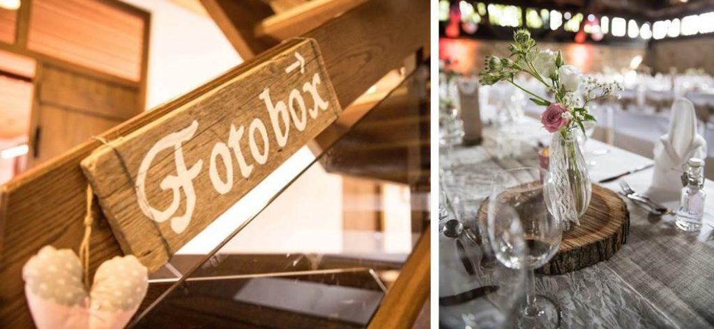 Hochzeitstrend Holzdeko