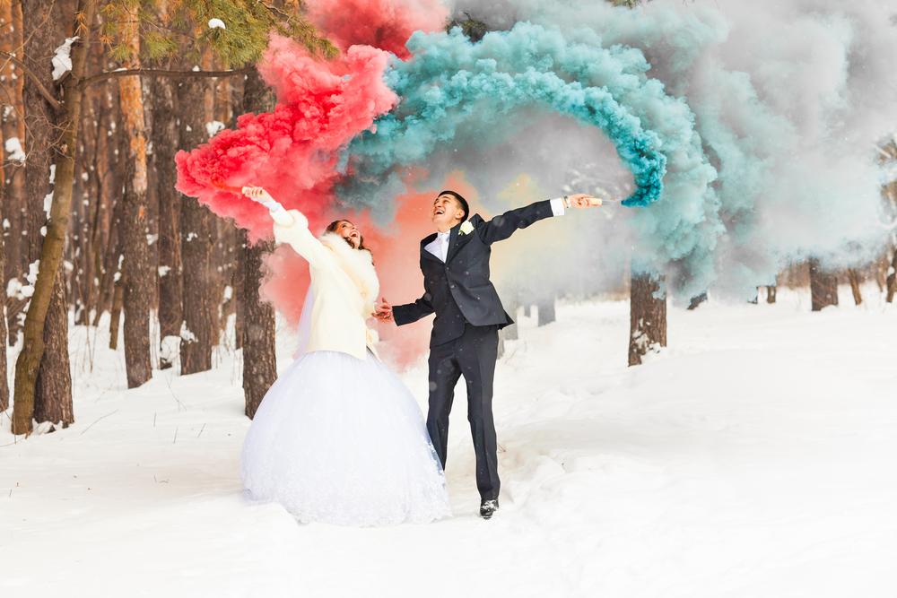 Hochzeitstrends Rauchbomben