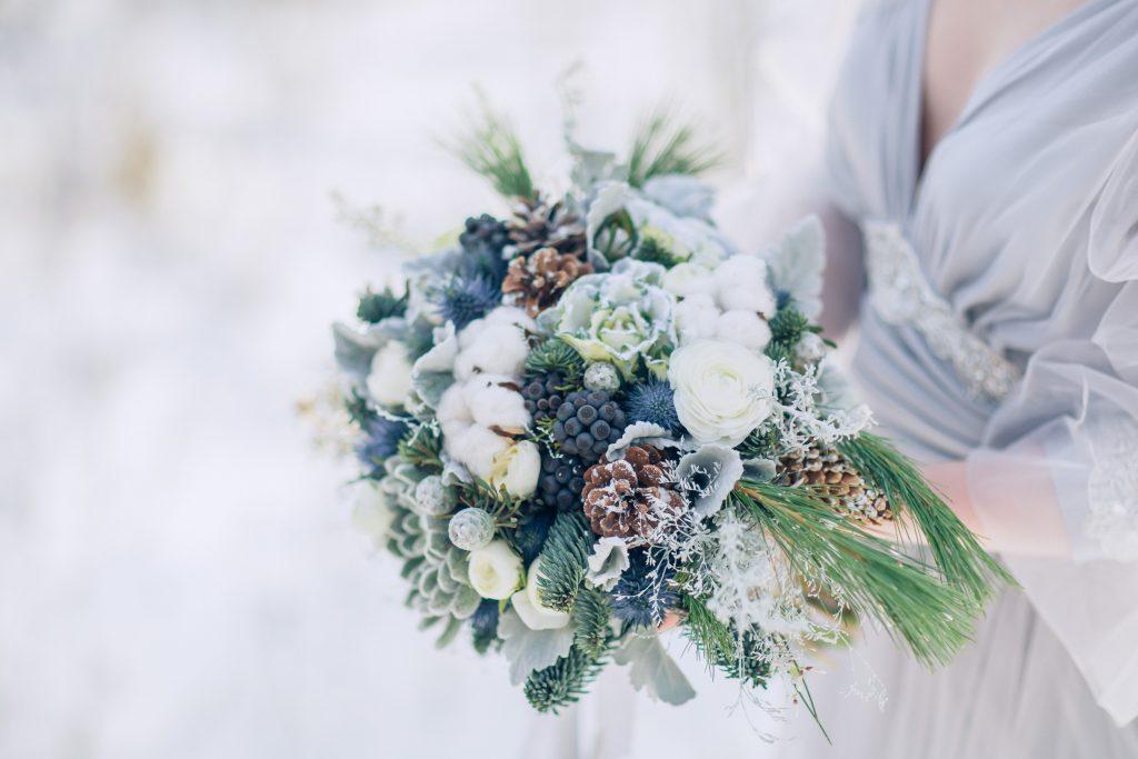 Winterhochzeit Brautstrauß